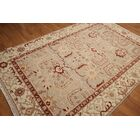 One-of-a-Kind Hameldon Hand-Knotted Wool Beige/Ivory Area Rug