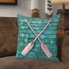 Brushton Double Sided Print Rustic Oars Pillow Cover Size: 26