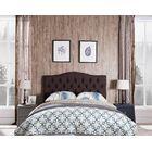 Frausto Upholstered Panel Headboard Upholstery: Brown