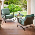 Kingston Seymour Milano 3 Piece Rattan Conversation Set with Cushions Cushion Color: Teal