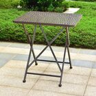Signe Contemporary Folding Iron Bistro Table Color: Brown