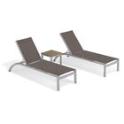 Saleem Reclining Chaise Lounge with Table Color: Cocoa