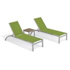 Saleem Reclining Chaise Lounge with Table Color: Go Green