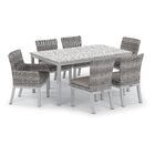 Saint-Pierre 7 Piece Dining Set with Cushions Cushion Color: Stone , Table Top Color: Ash