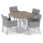 Saleh 5 Piece Dining Set with Cushions Cushion Color: Stone