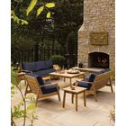 Crowell 6 Piece Teak Sofa Set with Cushions Cushion Color: Admiral Blue