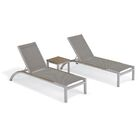 Saint-Pierre Reclining Chaise Lounge with Table Color: Titanium