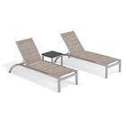 Saint-Pierre Reclining Chaise Lounge with Table Color: Bellows