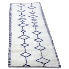 Genuine Fine Moroccan Hand-Woven Wool White Area Rug