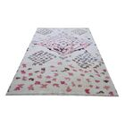 Genuine Moroccan Hand-Knotted Wool Ivory/Beige Area Rug