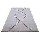 Moroccan Genuine Hand-Knotted Wool Gray/Blue Area Rug Rug Size: Rectangle 8'5