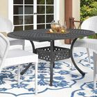 Brownell Outdoor Expandable Dining Table Color: Black Sand