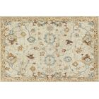 Fitzwater Hand-Hooked Wool Ivory Area Rug Rug Size: Rectangle 3'6