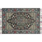 Oneil Hand-Hooked Wool Navy/Blue Area Rug Rug Size: Rectangle 9'3