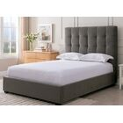 Bedsworth Upholstered Panel Bed Size: King, Color: Pewter