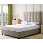 Bedsworth Upholstered Panel Bed Color: Khaki, Size: Queen