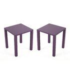 Pekalongan Rust-Proof Aluminum Side Table Color: Purple