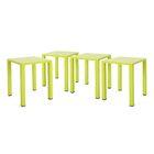 Pekalongan Rust-Proof Aluminum Side Table Color: Lime Green