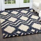 Chelsea Geometric Cream Area Rug Rug Size: Rectangle 5'3