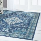 Starlight Medallion Blue Indoor/Outdoor Area Rug Rug Size: Rectangle 5'2 x 7'2