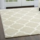 McSpadden Trellis Gray/White Area Rug with Rug Pad Rug Size: Rectangle 7'9