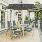 Dinan Outdoor 7 Piece Dining Set with Umbrella