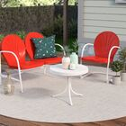 Timothea 3 Piece Sofa Set Color: Red
