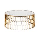 Jewel Coffee Table Color: Brushed Gold