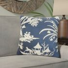 Delana Floral Throw Pillow Color: Midnight, Size: 22