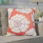 Arrant Floral Cotton Throw Pillow Color: Red