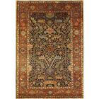 Serapi Hand-Knotted Wool Brown Area Rug Rug Size: Rectangle 4' x 5'10