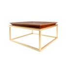 Le Tray Straight Leg Coffee Table Table Top Color: Oak, Table Base Color: Polished Nickel