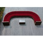 Baril Curved 10 Piece Sectional Set with Cushions Cushion Color: Red