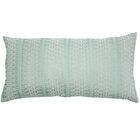 Palomares Backgamon Embroidery Linen Pillow Cover Color: Turquoise