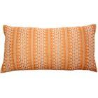Palomares Backgamon Embroidery Linen Pillow Cover Color: Orange