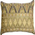 Ouzts Diamond Geo Embroidery Pillow Cover Color: Gold