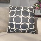 Donatella Geometric Cotton Throw Pillow Color: Black
