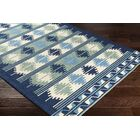 Pelchat Hand-Hooked Navy/Sage Indoor/Outdoor Area Rug Rug Size: Rectangle 9' x 12'