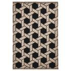 Elam Basket Hand-Woven Black/Beige Indoor/Outdoor Area Rug Rug Size: Rectangle 5' X 7'5