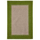 Elam Border Hand-Woven Green/Beige Indoor/Outdoor Area Rug Rug Size: Rectangle 7'5