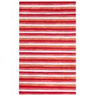 Hugo Painted Stripes Hand-Woven Red Indoor/Outdoor Area Rug Rug Size: Rectangle 9' x 12'