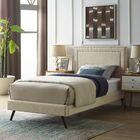 Huntsman Upholstered Platform Bed Color: Beige, Size: Queen