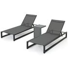 Santini Reclining Chaise Lounge with Table