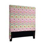Handy Optical Delights Upholstered Panel Headboard Size: Twin