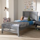 Farner Twin Platform Bed Color: Gray