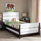 Albali Twin Platform Bed Color: White/Bark Brown