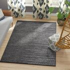 Erik Hand-Woven Light Grey/Grey Area Rug Rug Size: Rectangle 5' x 8'
