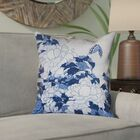 Clair Peonies and Butterfly Indoor Square Pillow Cover Size: 20