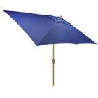 Hulme Solid 6.5' x 10' Rectangular Market Umbrella Fabric Color: Cobalt