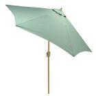 Hulme Solid 8.9' Market Umbrella Fabric Color: Aqua